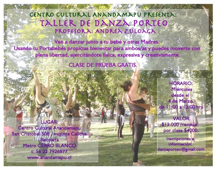 Afiche Danza Porteo Anandamapu